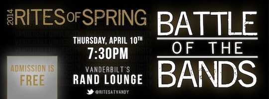 The Rites of Spring Battle of the Bands provides a great opportunity for local bands to play on a big stage--and for you to discover their music!