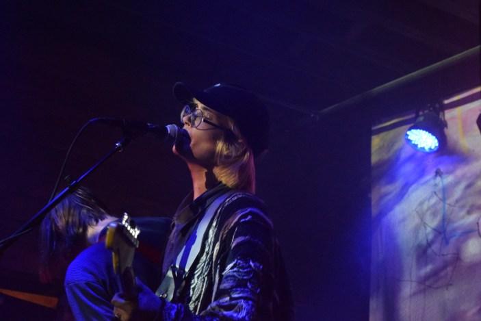 DIIV's Zachary Cole Smith at the High Watt, November 12. (photo: Meredith Mattlin)