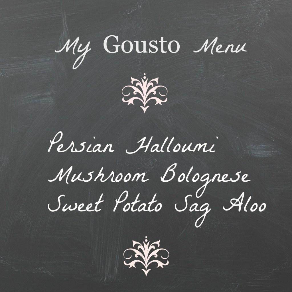 Gousto menu