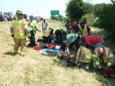 Assisting patients at a motor vehicle accident
