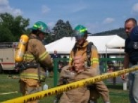 Members of Crew 13 Participate in the Liverpool Firefighter Challenge