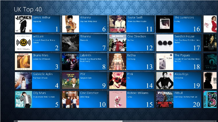 UK Top 40 screenshot - Windows 8 Downloads