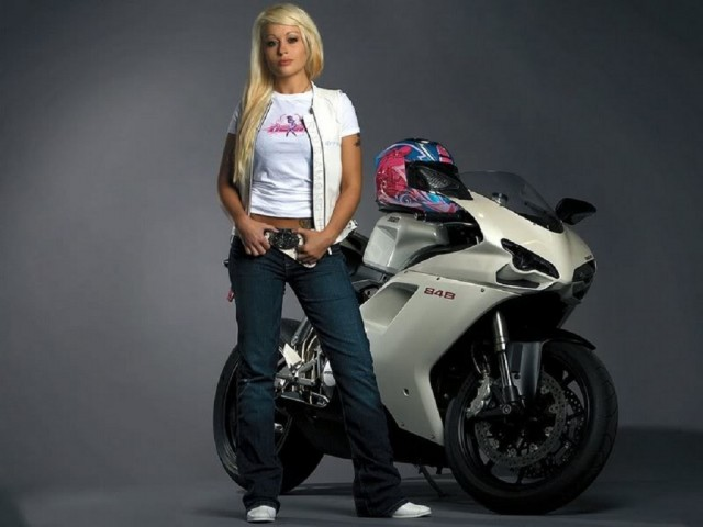 Girl On Bike Hd Wallpaper Ducati 848 Bike Girl Hd Wallpaper Wide Screen Wallpaper