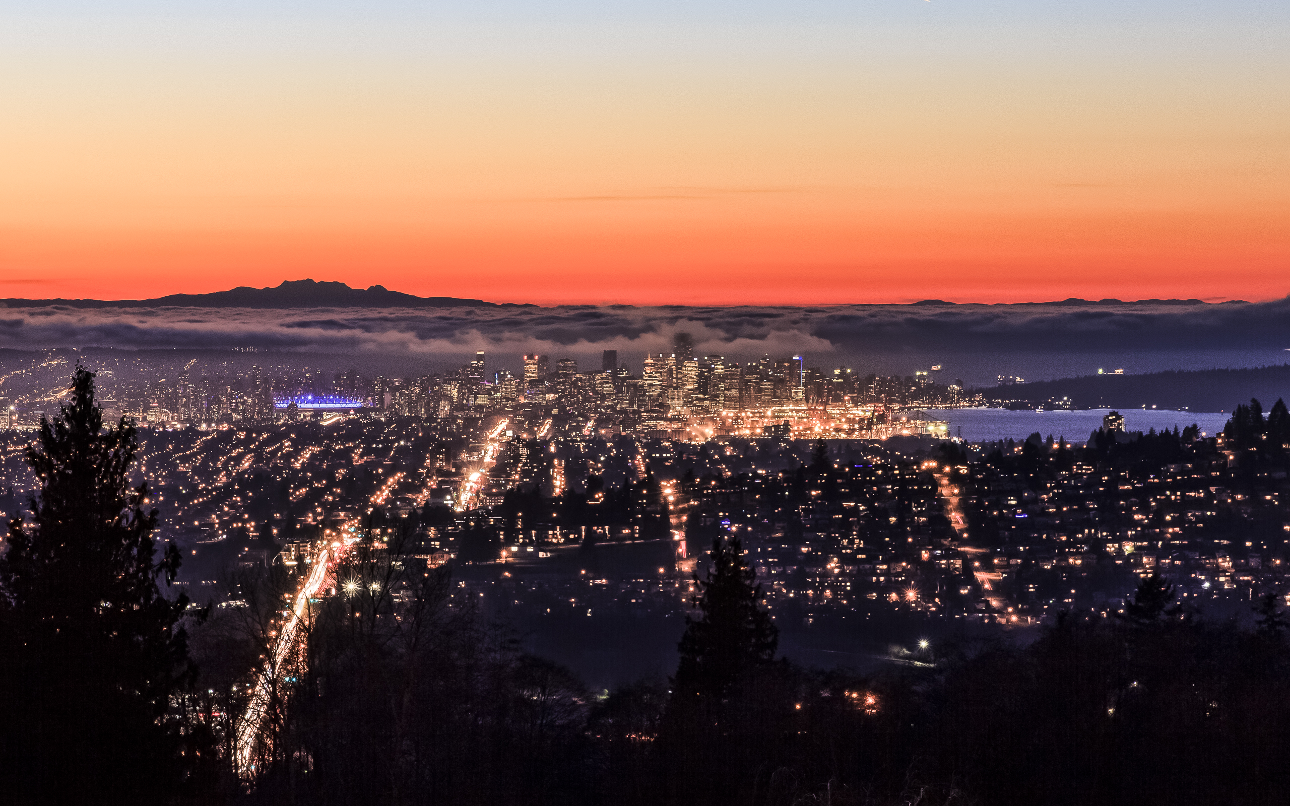 Best Looking Cars Wallpapers Vancouver From Burnaby Mountain Wide Screen Wallpaper