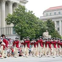 美國國慶 首都華盛頓州遊行隊伍
