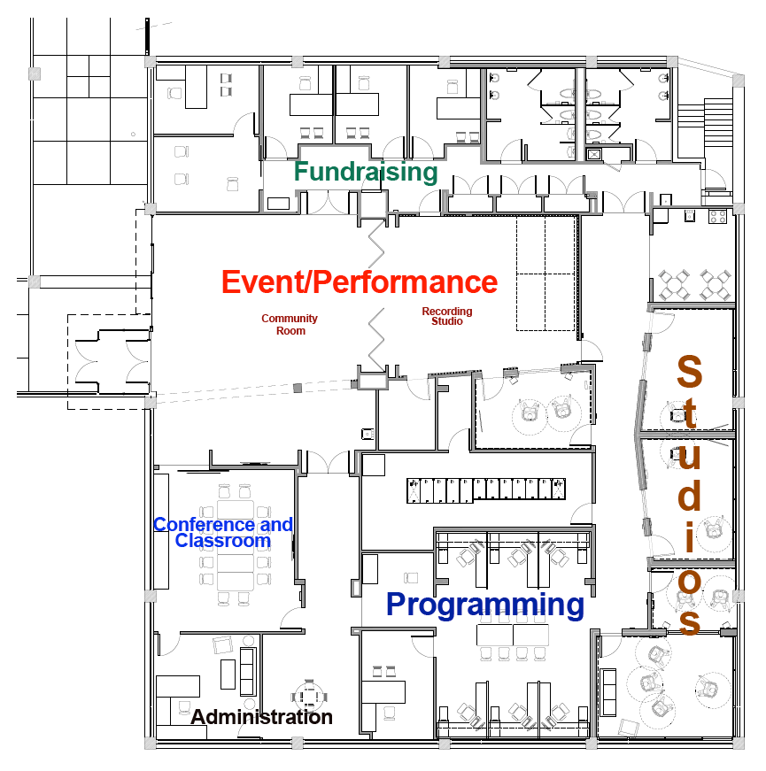 take a tour of the floor plan for the new wtmd  u2013 wtmd