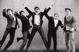 NPG x30108; The Dave Clark Five (Rick Huxley; Lenny Davidson; Dave Clark; Denis Payton; Mike Smith) by Norman Parkinson