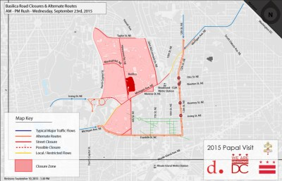 Road closures for pope's visit to create significant delays for commuters | WTOP