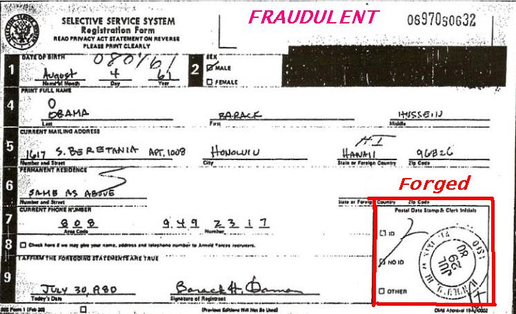 Obama\u0027s Selective Service Card Fraud Bombshell! We the People of