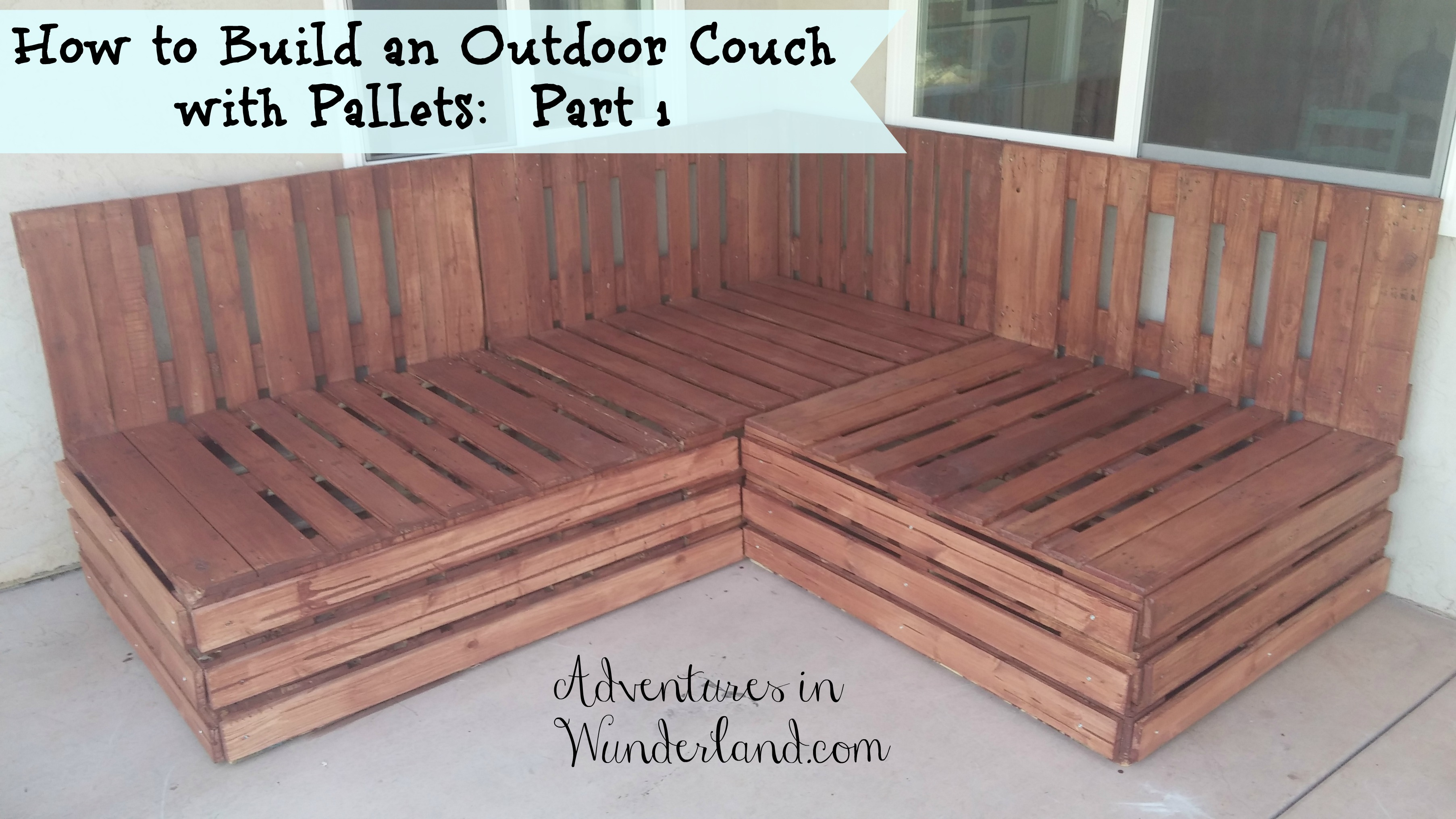 Sofa Palette How To Build An Outdoor Couch With Pallets Part 1