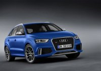 Audi RS Q3 - Fahrzeugfront des Audi RS Q3 Farbe: Arablau ...