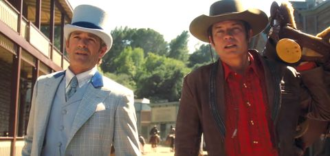 Luke Perry and Timothy Olyphant inOnce Upon a Time in Hollywooddeleted scene