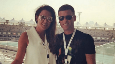 Photo of Danielle Lloyd enjoys F1 Grand Prix in Abu Dhabi