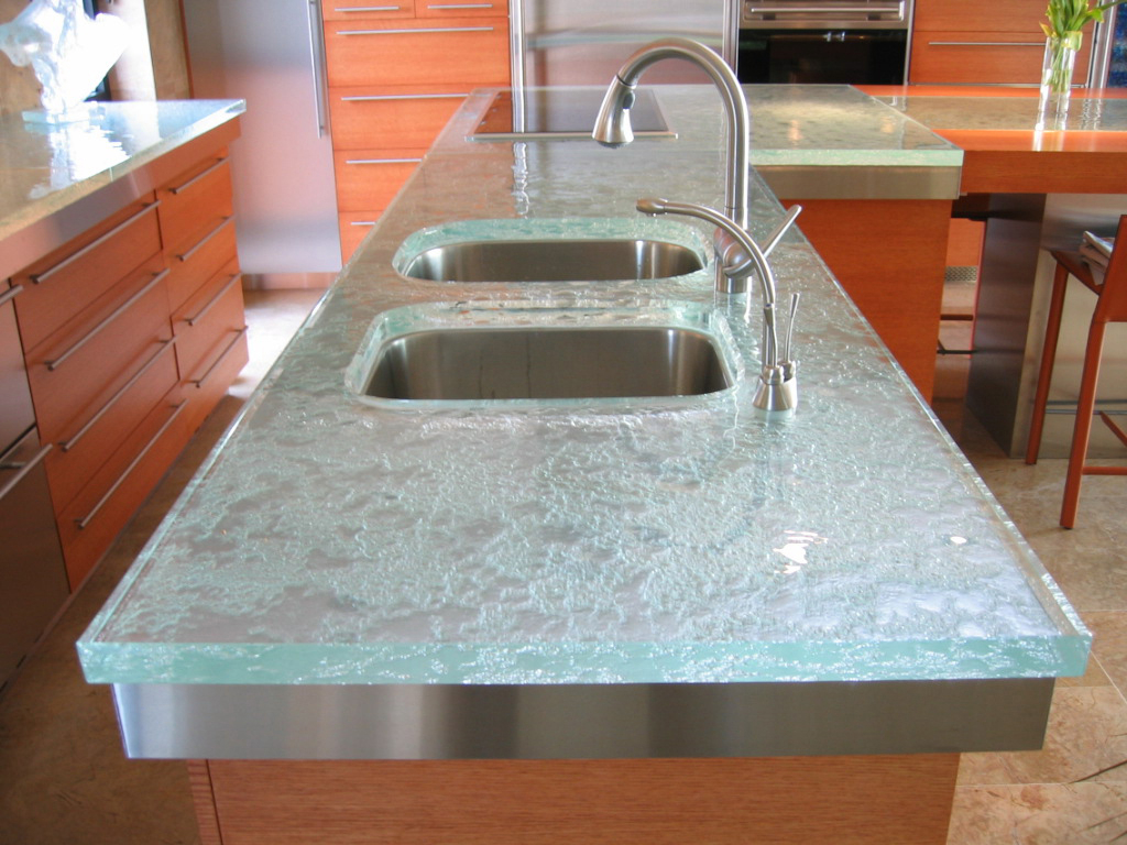 Think Glass Countertops Glass Countertop Is The Latest Trend To Hit The Kitchen And Bath