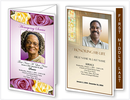 Funeral Program Templates \u2013 New Layouts and Designs from Elegant