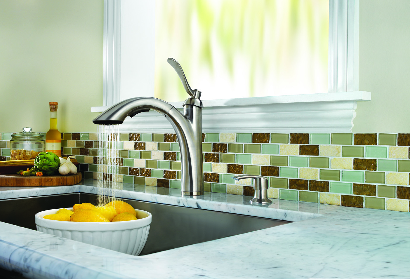 prweb kitchen faucets The Rembrandt Pull out Kitchen Faucet features a bold high arc design in a transitional style for both traditional or contemporary styled homes