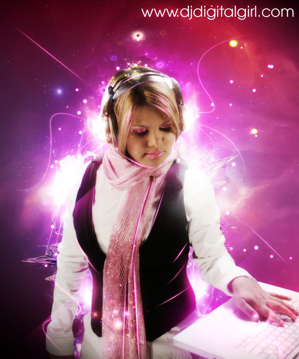 Trance Girl Wallpaper Dj Digital Girl Techno Artist And Composer Of Electronice