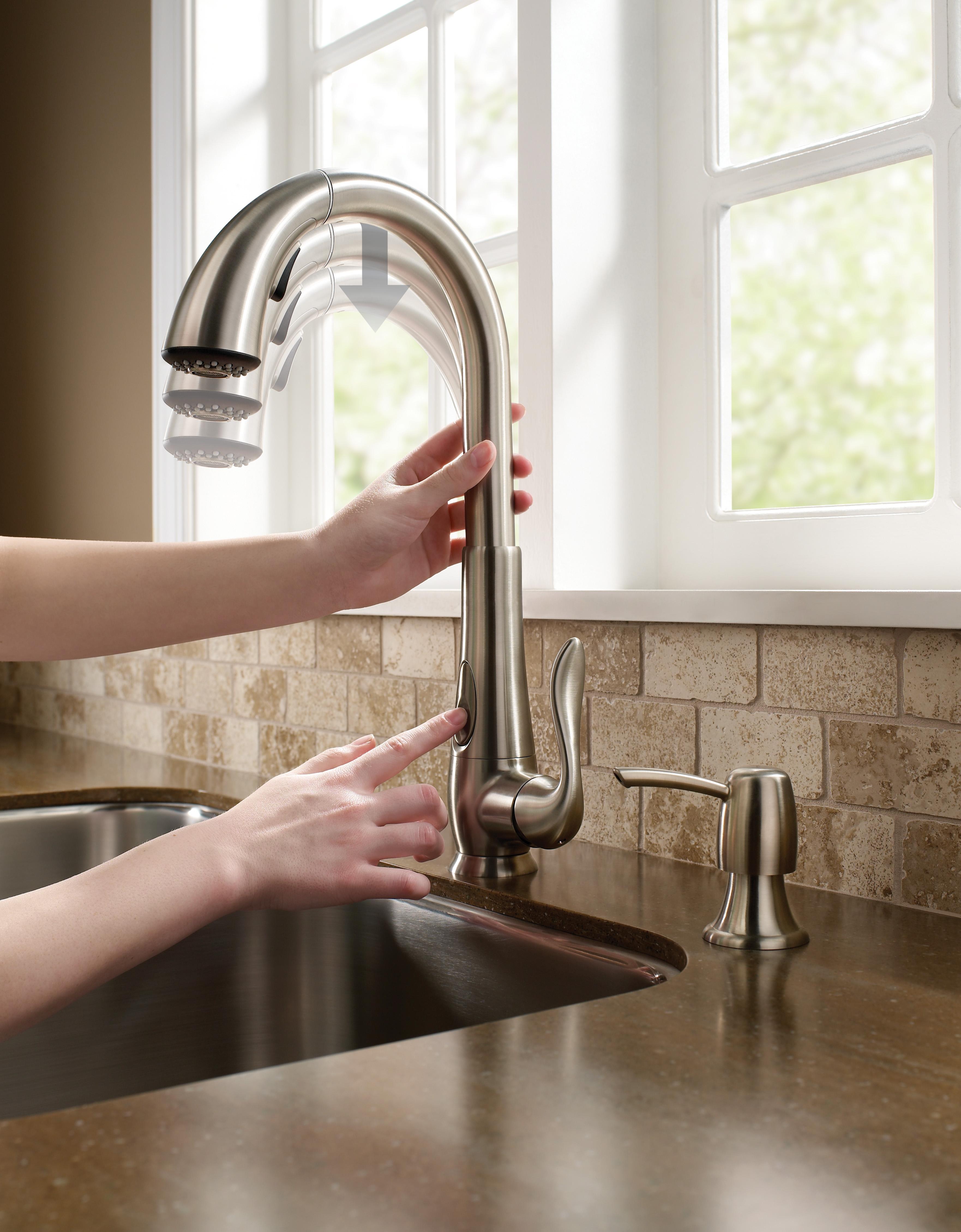 罎笆篏 kitchen faucet team pfister kitchen faucet ms 3501 water