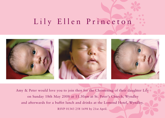 25 Off a Range of Christening Invitations, Birth Announcement Cards