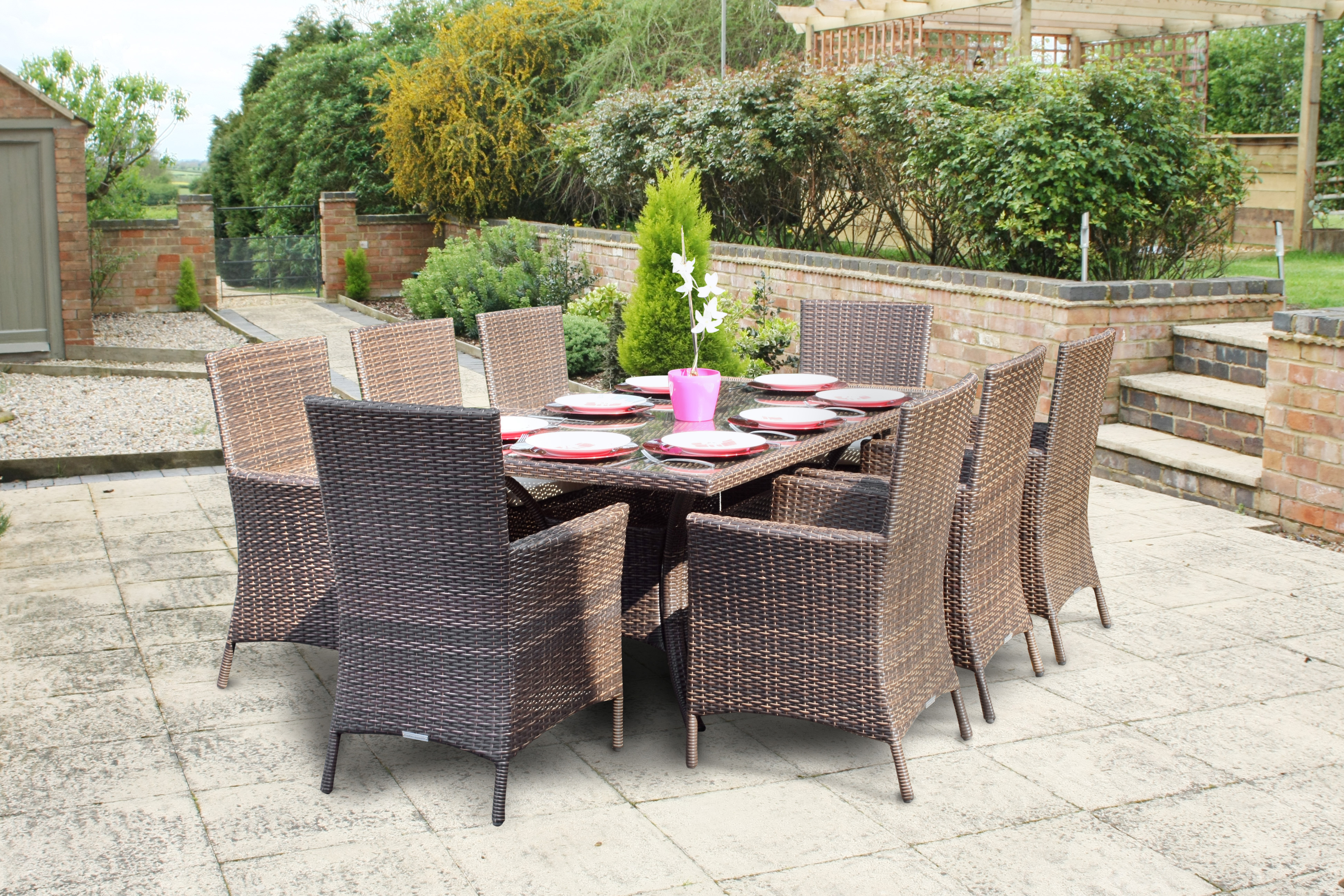 Rattan Outdoor Wovenhill Are Proud To Supply Itn News With Rattan Garden ...