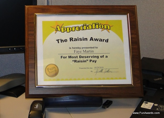 Funny Staff Awards \u2013 Fun Awards Announces Sale to Rescue the Work - employee superlatives