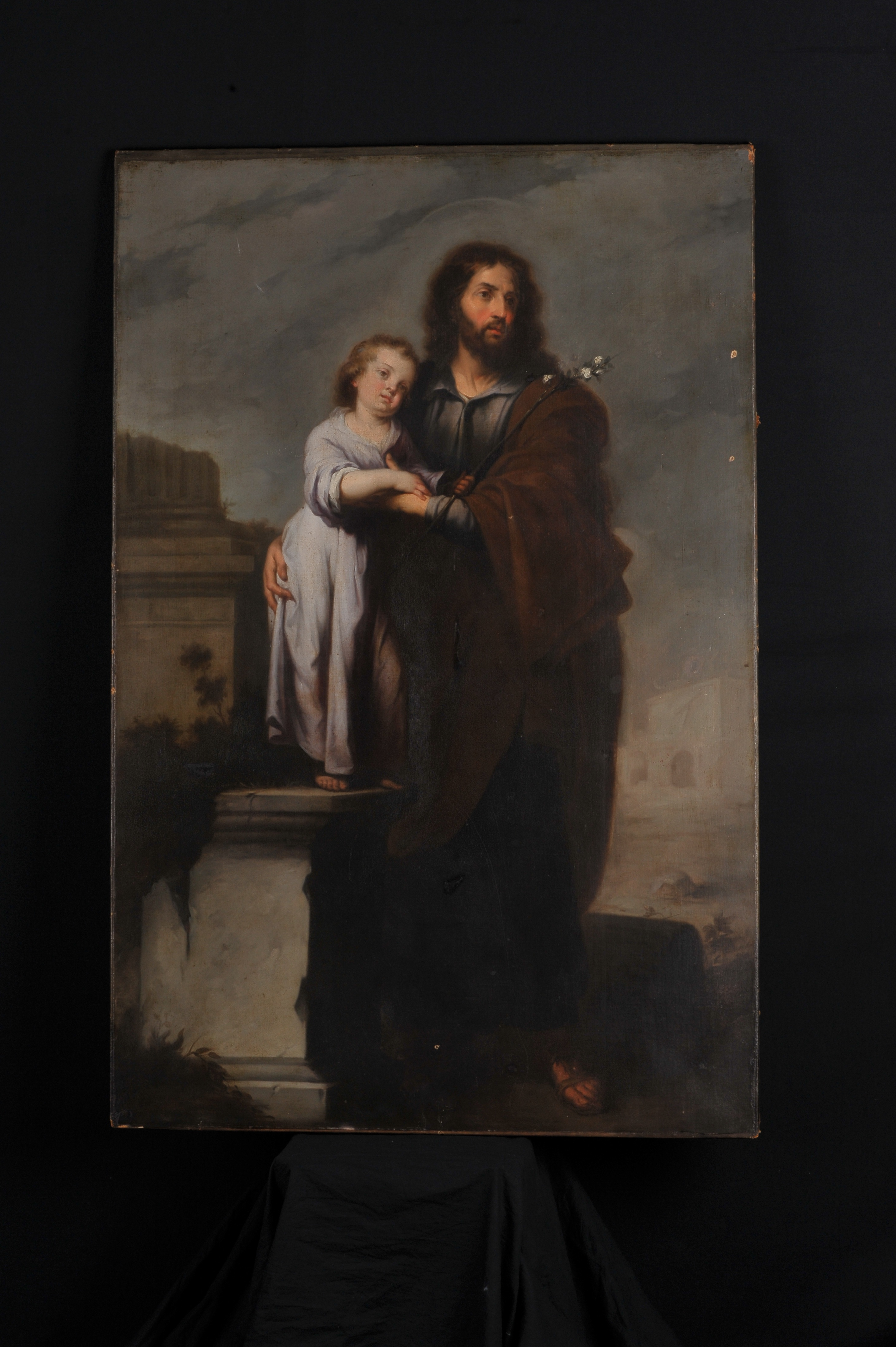 Infant Child Learning Center Recently Discovered Spanish Old Master Oil Painting Of St