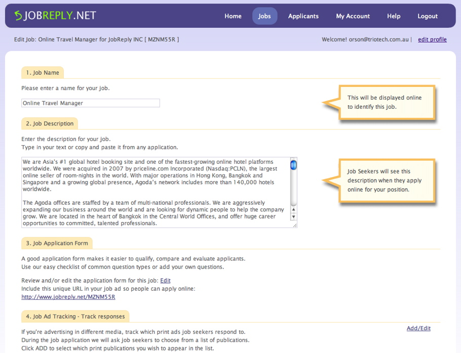 JOBREPLYnet solves a difficult issue for job advertisers who still