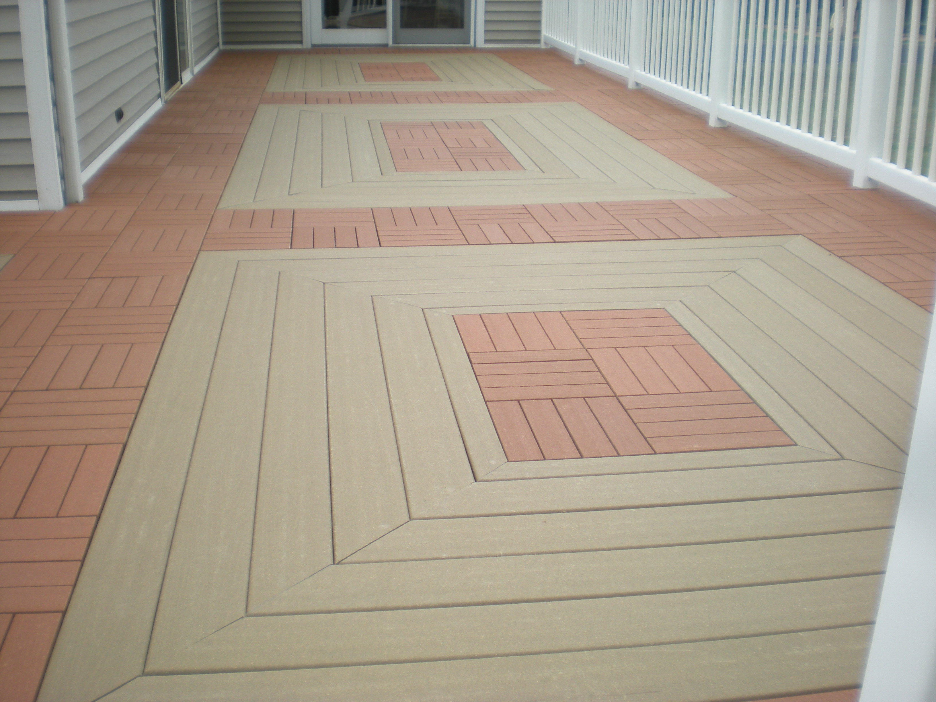 Composite Deck Tiles It 39s A Snap Ecoshield Tm Deck Tiles Video Clip Shows