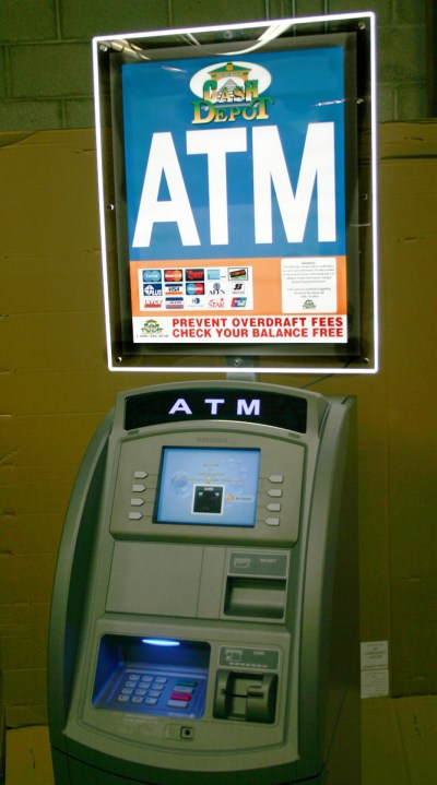 Cash Depot Offers Highly Illuminated ATM LCD Sign Topper