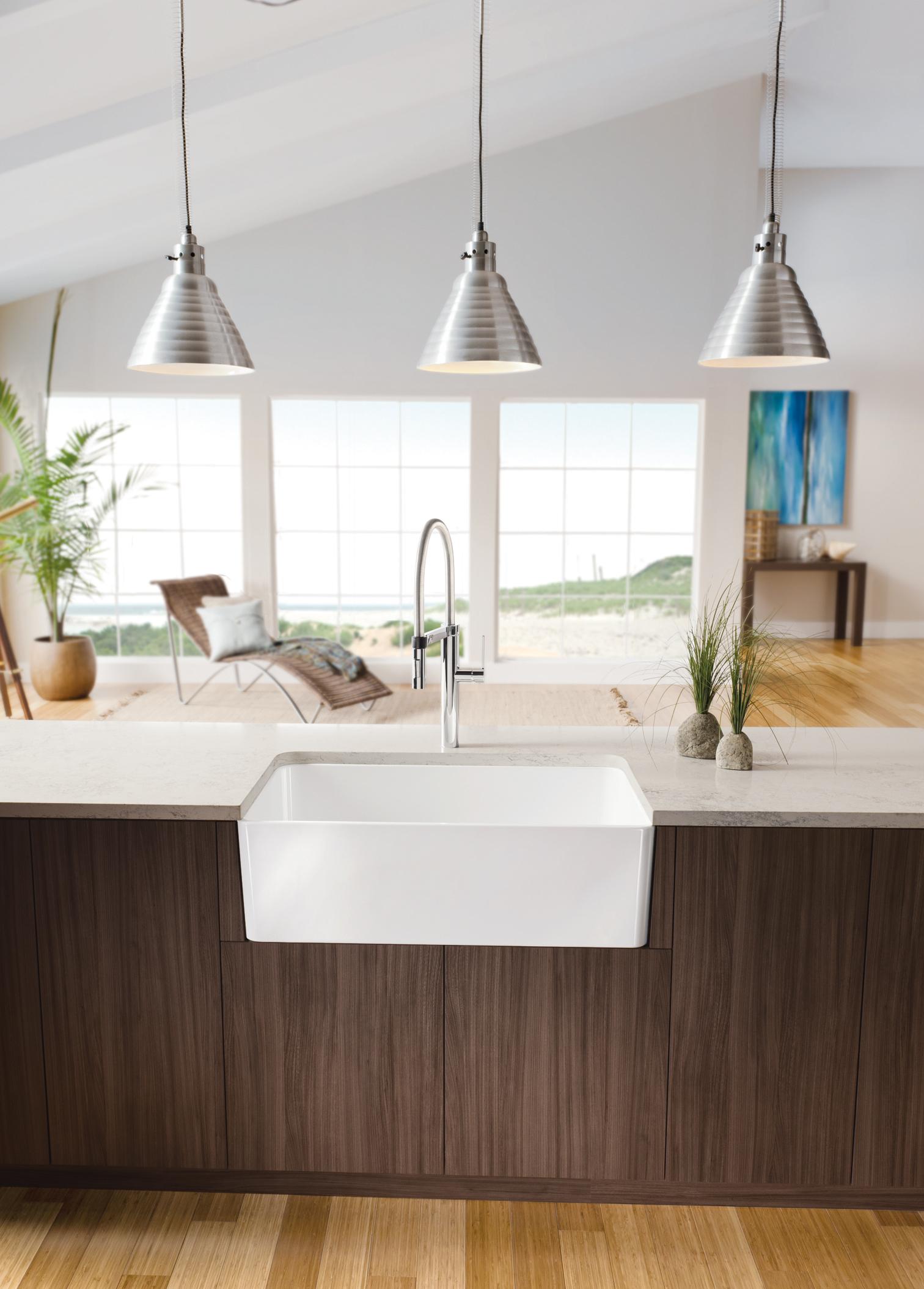 prweb apron front kitchen sink BLANCO CERANA Image 1