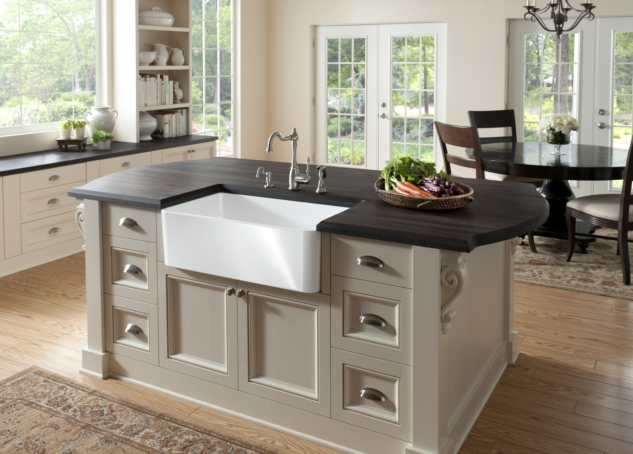 Small Kitchen Islands With Seating Blanco Introduces The Cerana™ Apron Front Kitchen Sink