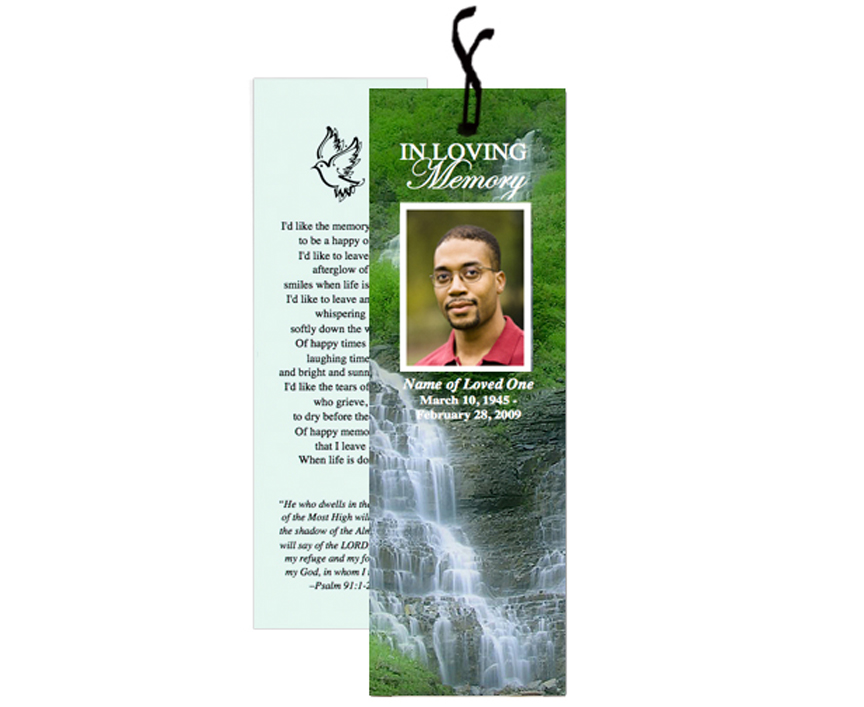 funeral bookmarks template free - Josemulinohouse - free funeral templates for word