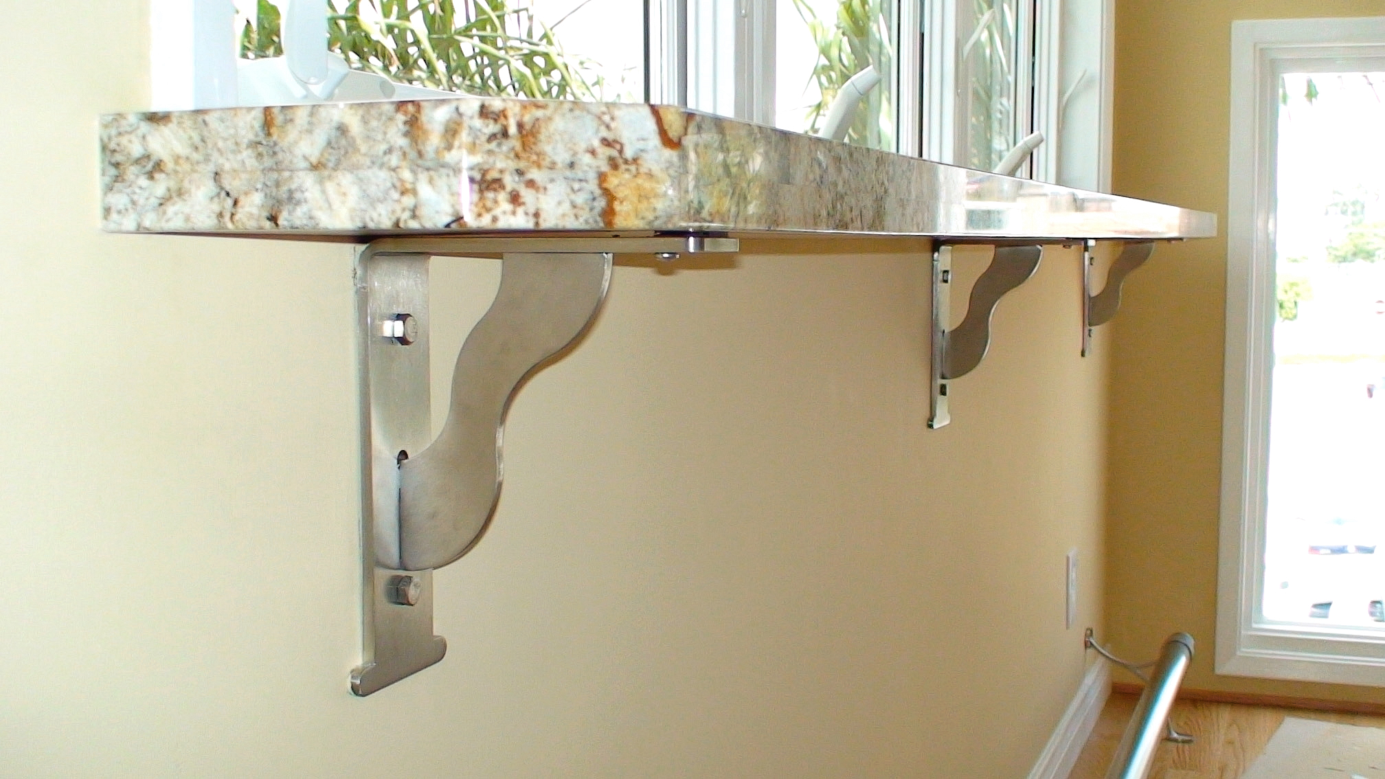 Floating Countertop Supports Outwater Introduces Its Steel Countertop Support Brackets