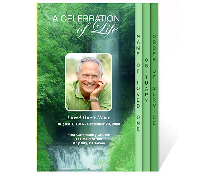 New Funeral Program Templates are Now Available at the Celebrations - celebration of life templates