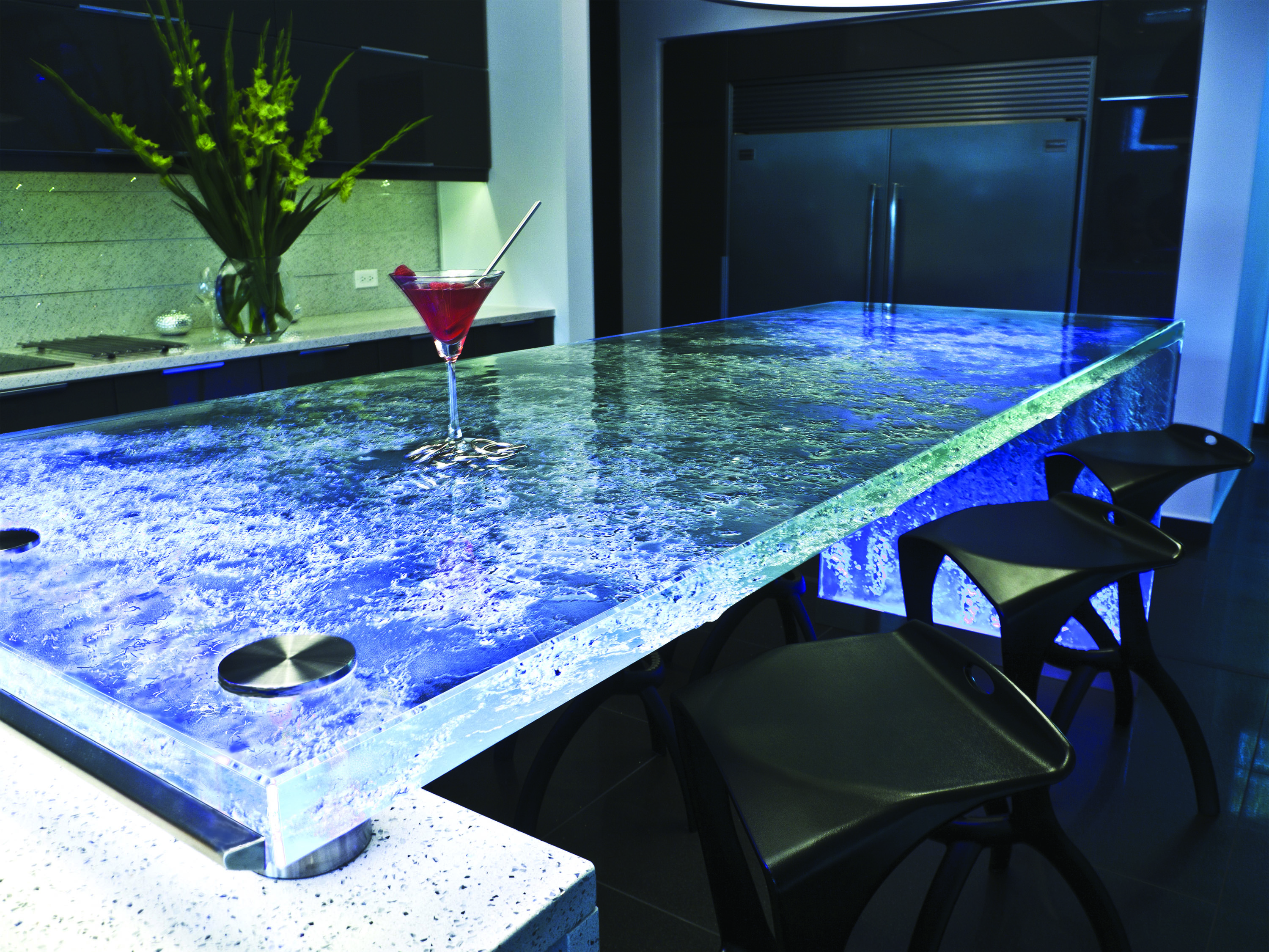 Think Glass Countertops New Design Glass Countertops Glass Side Panels