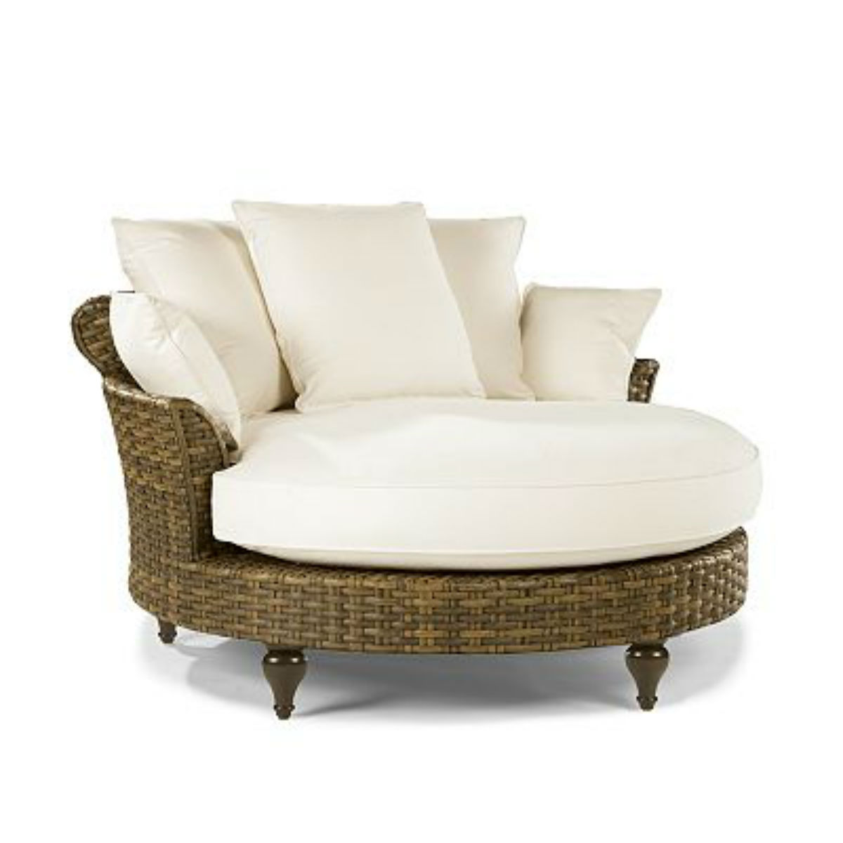 Circle Chaise New Outdoor Slipcovered Furniture Made In The Usa Has