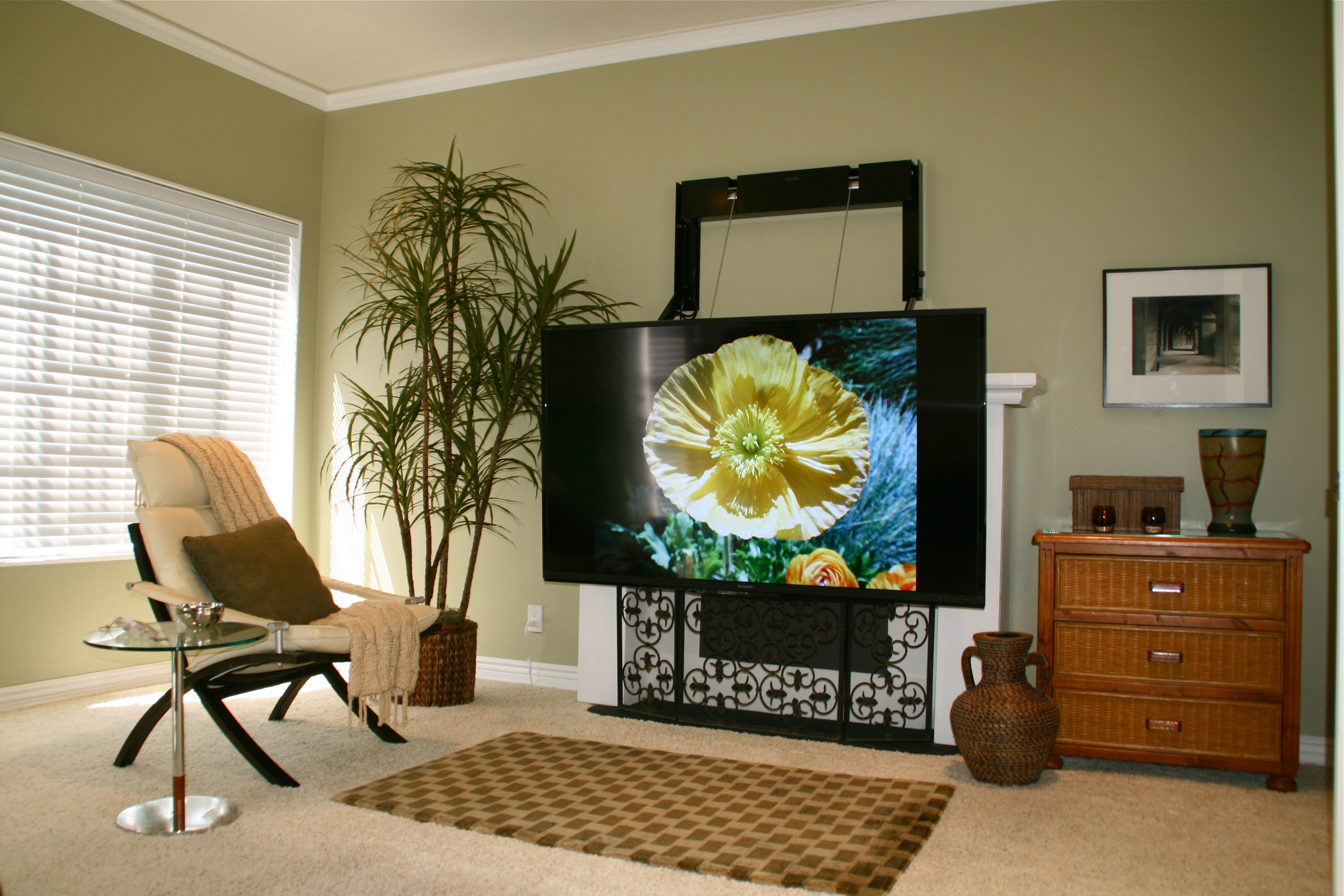 Fireplace Alternatives New Flatscreen Mount Provides Perfect Viewing Experience