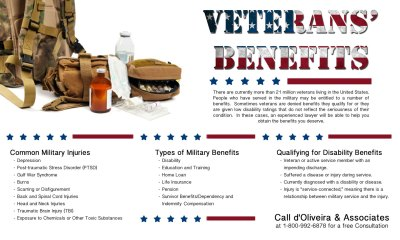 Rhode Island Lawyer Announces New Informational Graphic about VA Benefits
