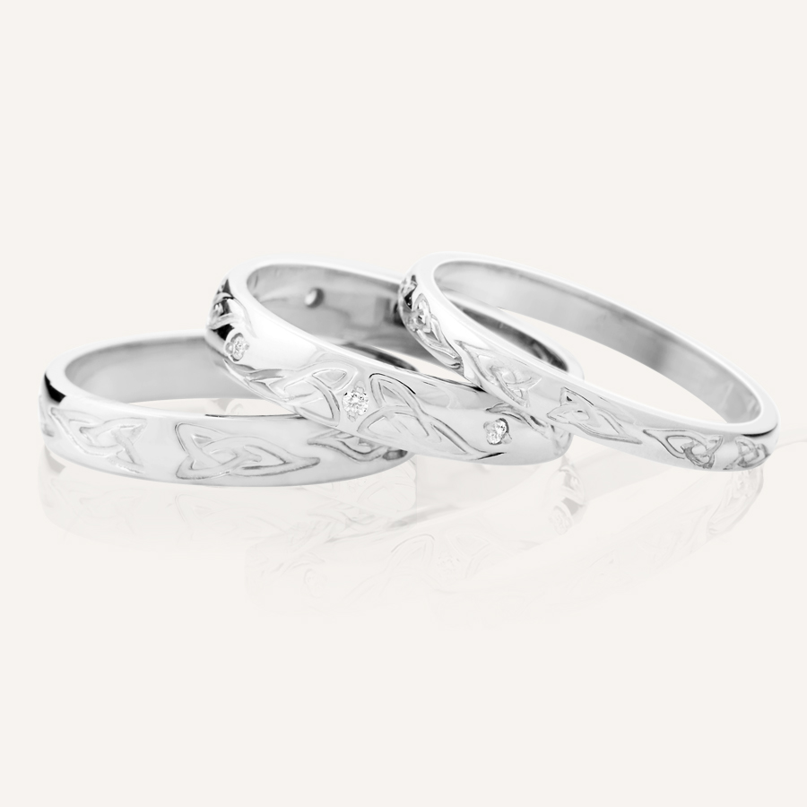 prweb irish wedding rings Trinity Knot Wedding Bands at CelticPromise comTrinity Knot Wedding Bands by designer Joseph Harbourne at CelticPromise com Irish wedding ring