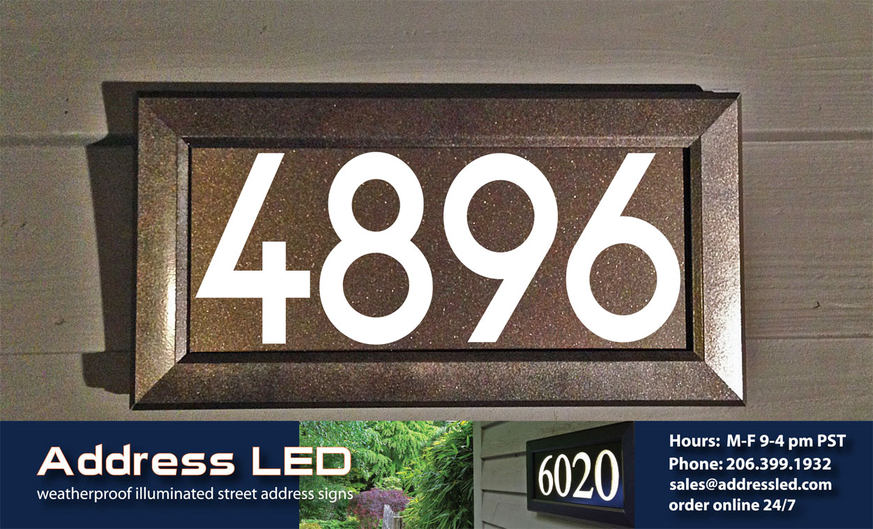 Exterior Light Fixtures Address Led Expands Their Lighted Street Address Product