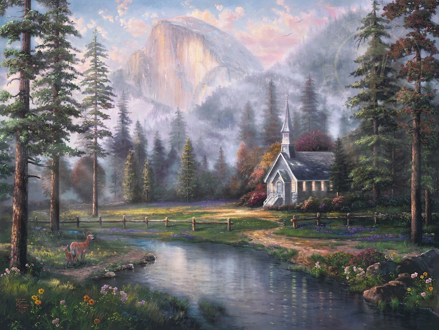 3d Art Street Wallpapers The Thomas Kinkade Company Announces The Release Of