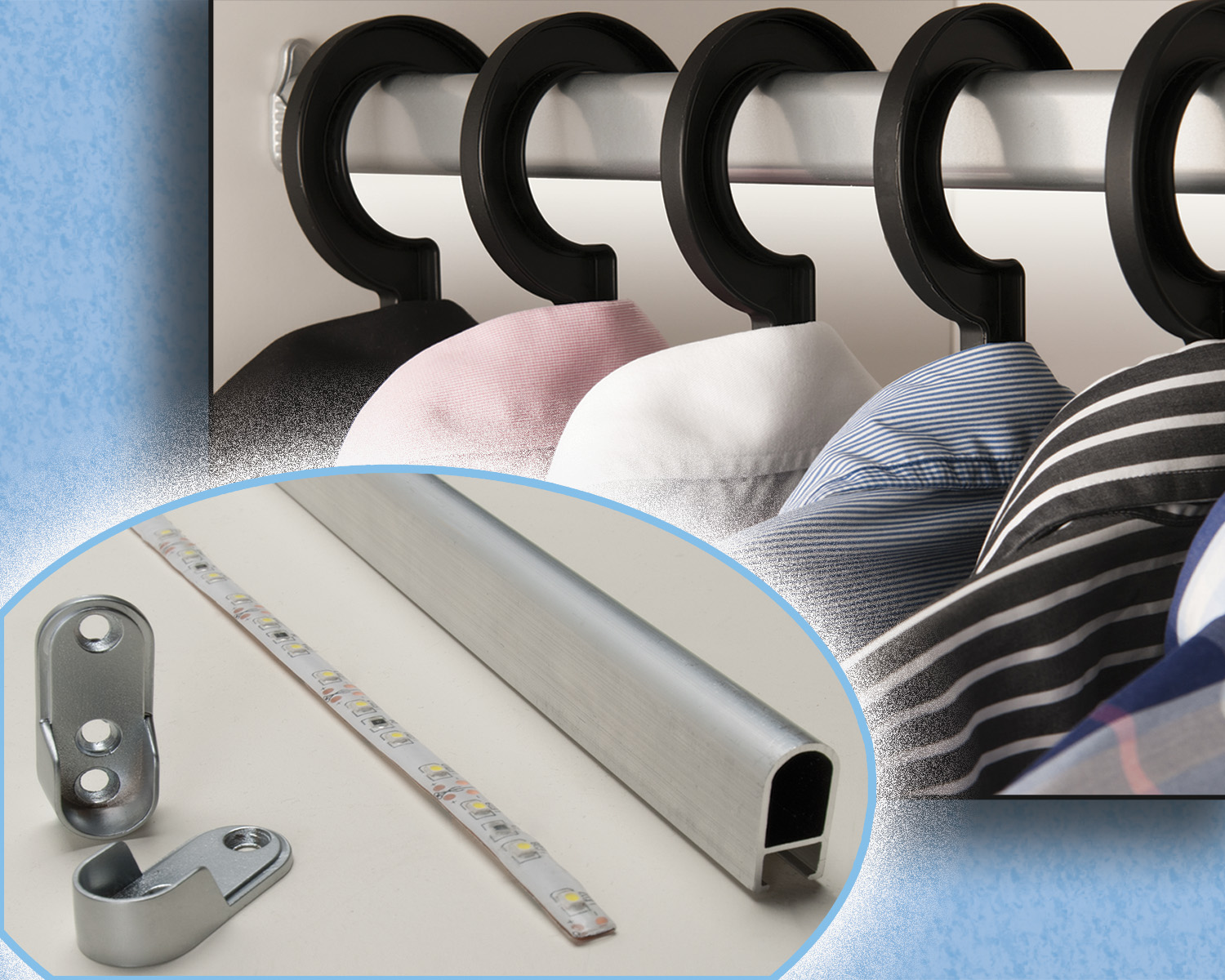 Led Home Lighting Business Outwater Introduces Its Led Closet Rod Light Kit