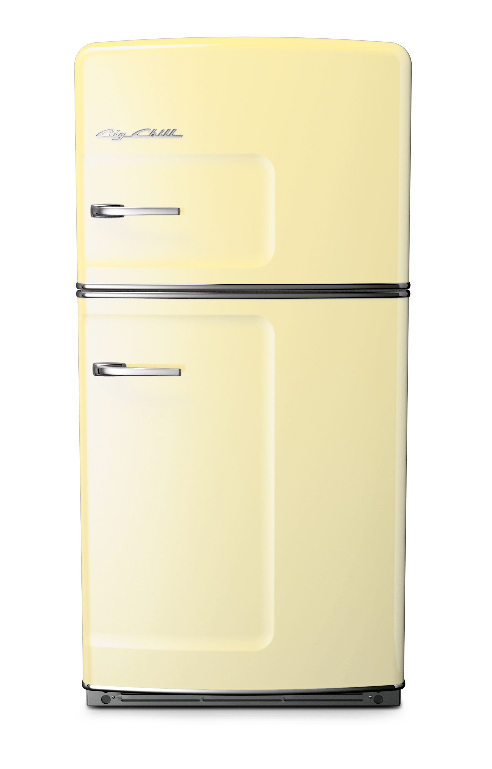 Yellow Fridge Freezer Big Chill Introduces The Coastal Look To The Heart Of The