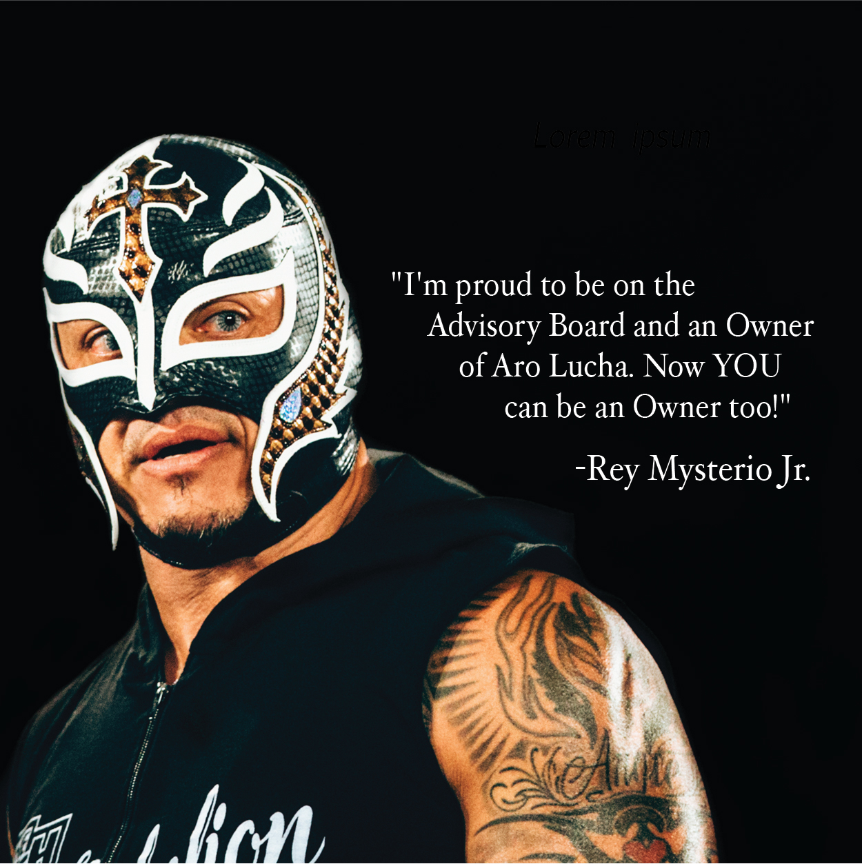 Lucha Libre Rey Misterio Rey Mysterio Owner And Star Of Season 1 Of Aro Lucha