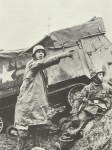 Advancing German soldiers Ardennes