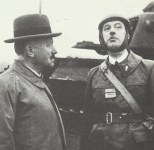 Colonel de Gaulle with President Lebrun