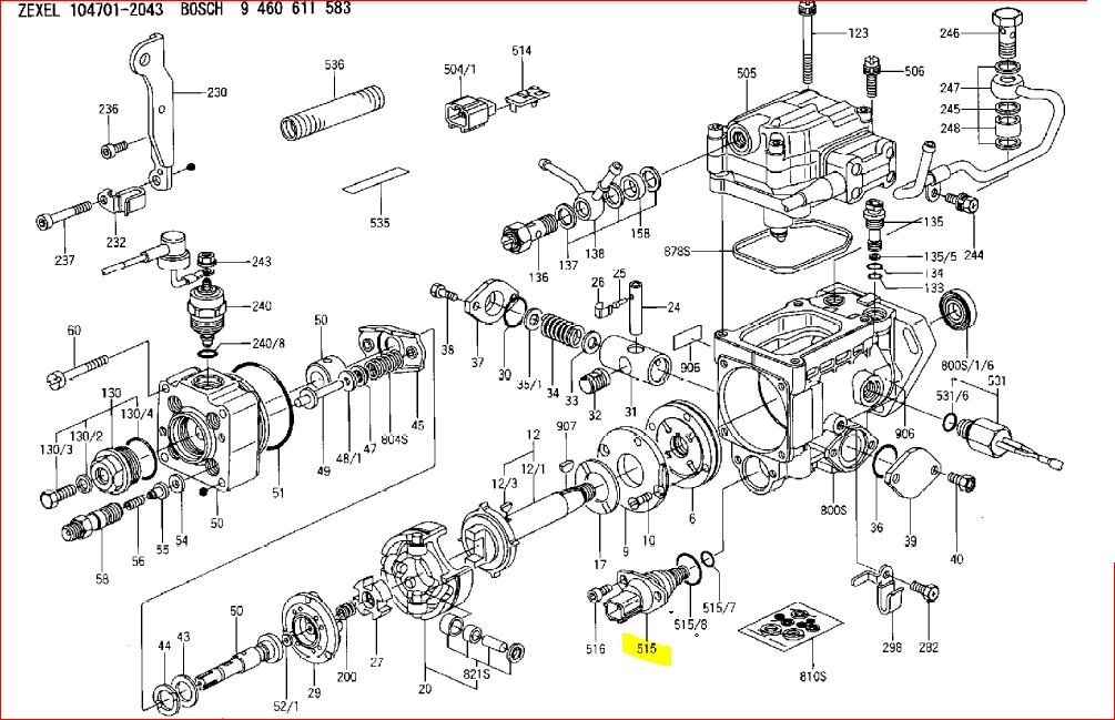 mitsubishi l3e engine parts breakdown