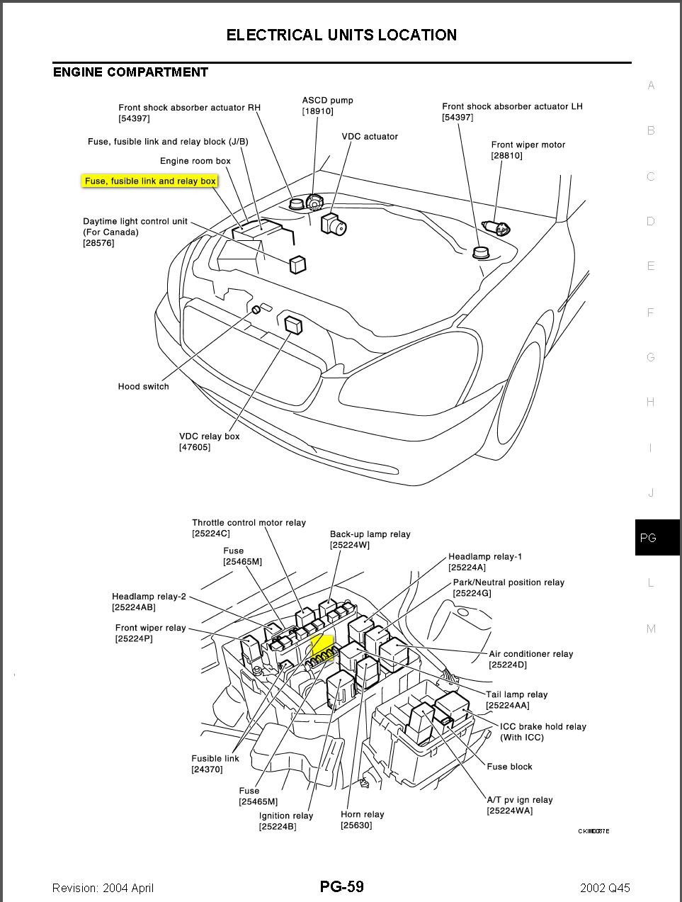 2004 infiniti g35 radio fuses diagram