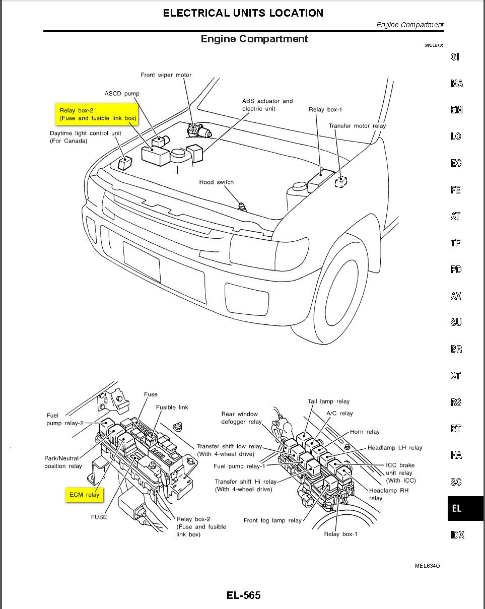 wirering diagram for 2001 infiniti qx4