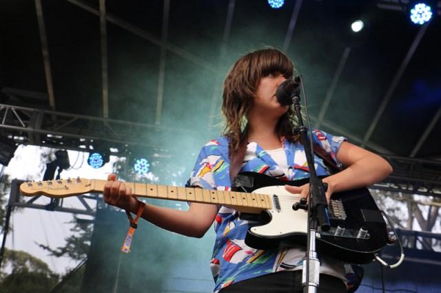 Courtney Barnett during her noisy, rocking set